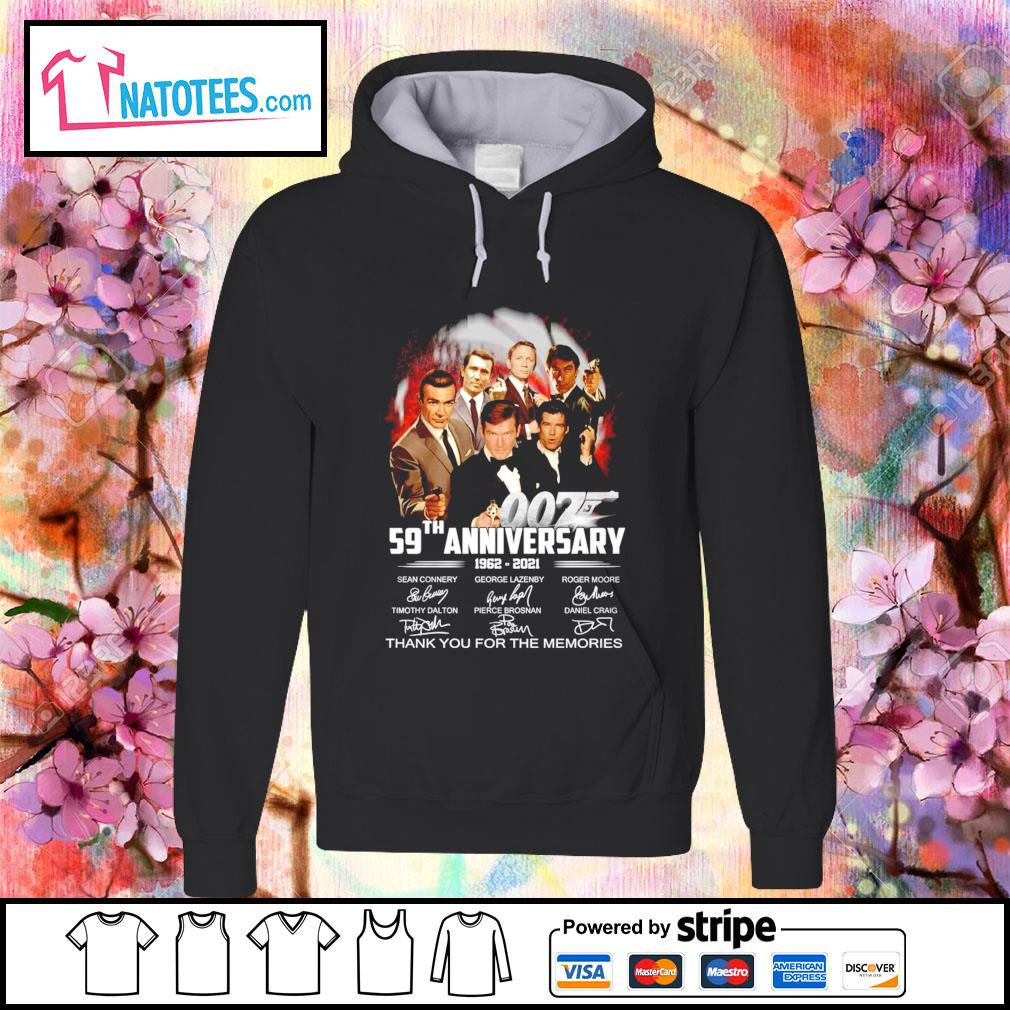 007 59th anniversary 1962 2021 thank you for the memories s hoodie