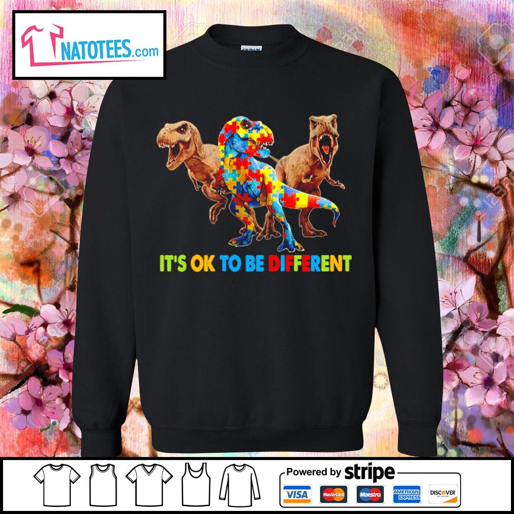 Dinosaurus T-rex it's ok to be different Awareness s sweater