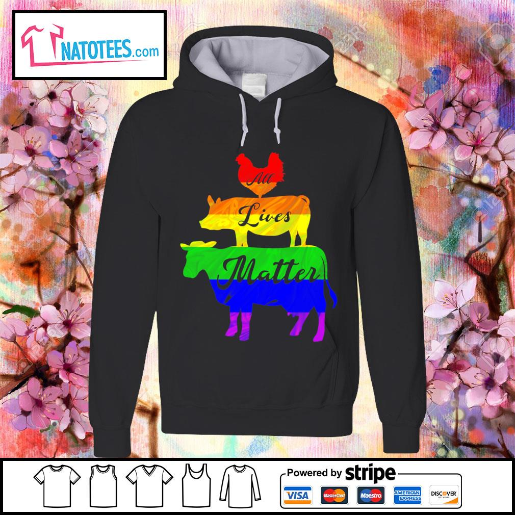 LGBT animals all lives matter s hoodie