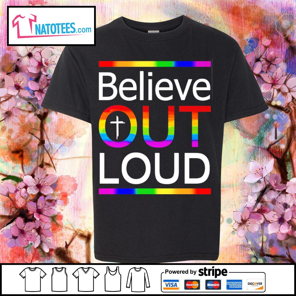 LGBT believe out loud s youth-tee