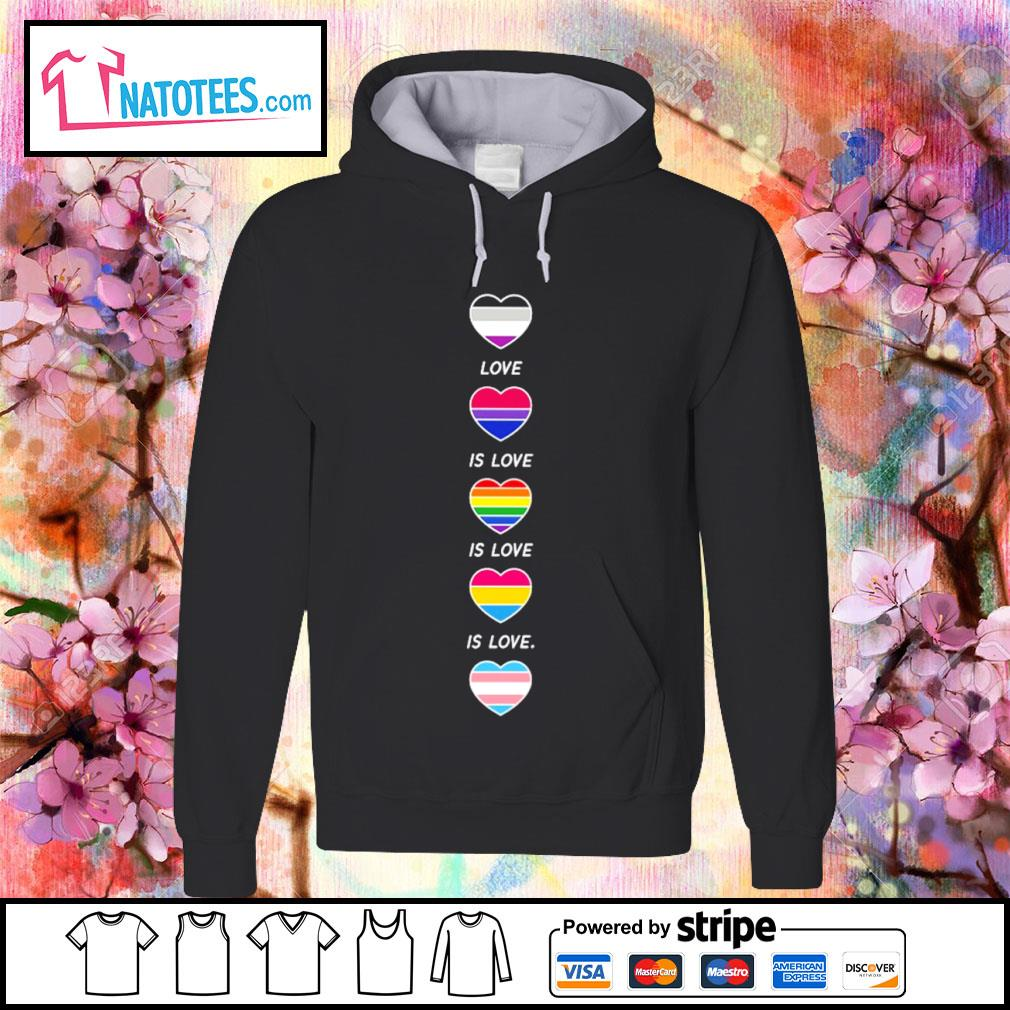 LGBT rainbow heart love is love s hoodie