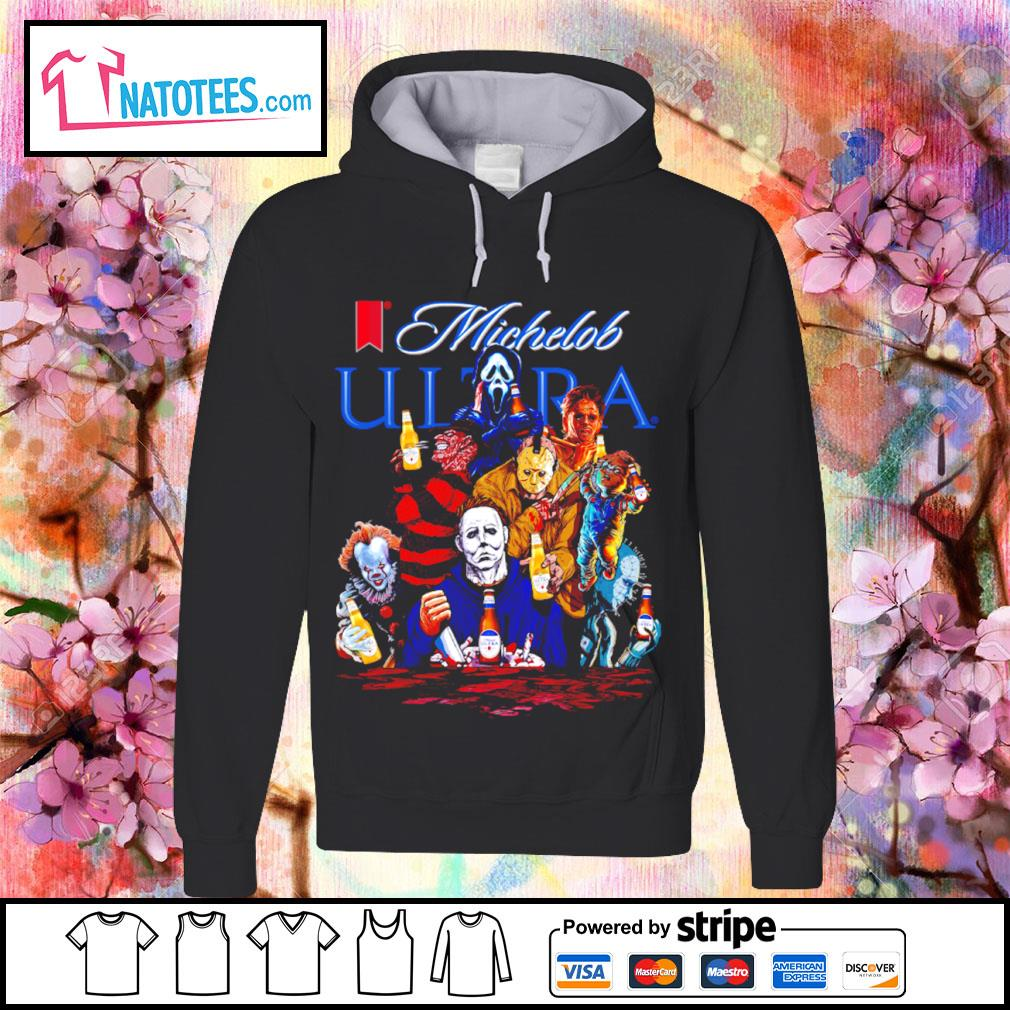 Michelob Ultra horror characters movie s hoodie