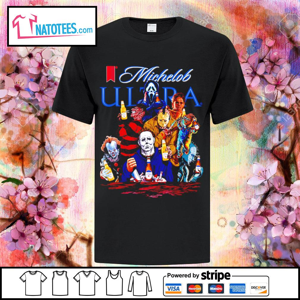 Michelob Ultra horror characters movie shirt