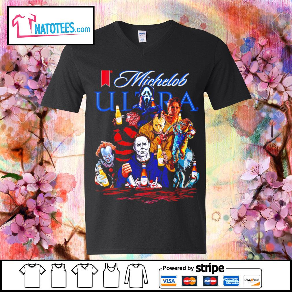 Michelob Ultra horror characters movie s v-neck-t-shirt