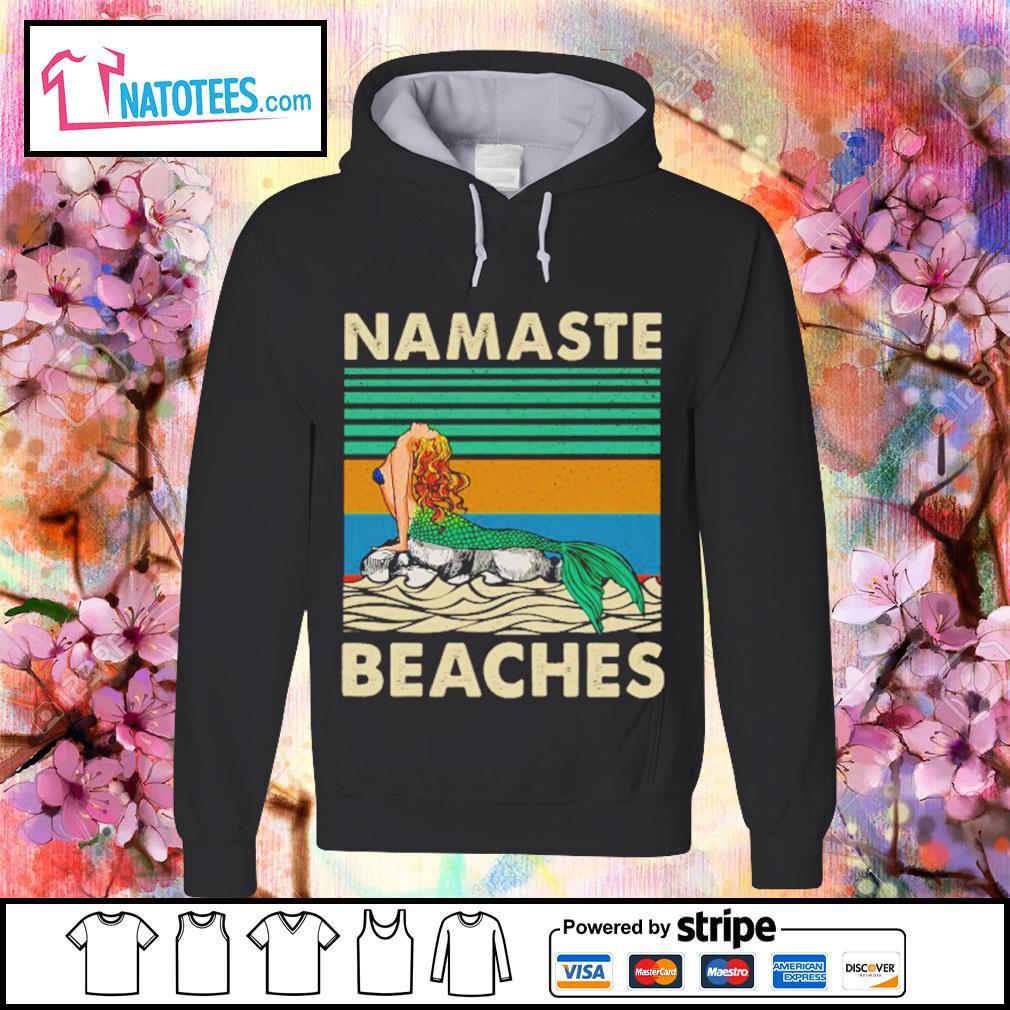 Namaste beaches vintage s hoodie
