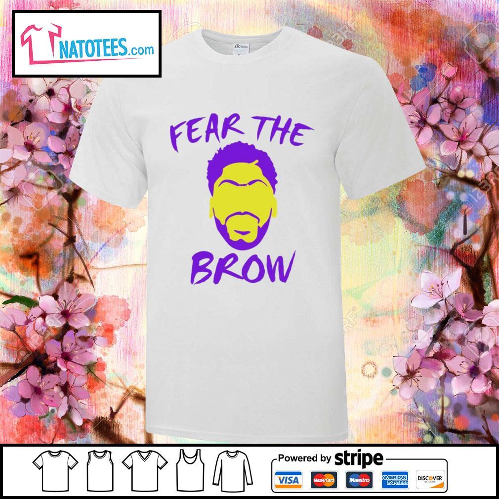 Anthony Davis fear the brow basketball shirt