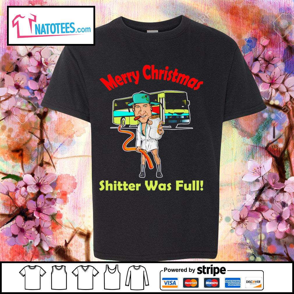 Cousin Eddie Merry Christmas shitter was full s youth-tee