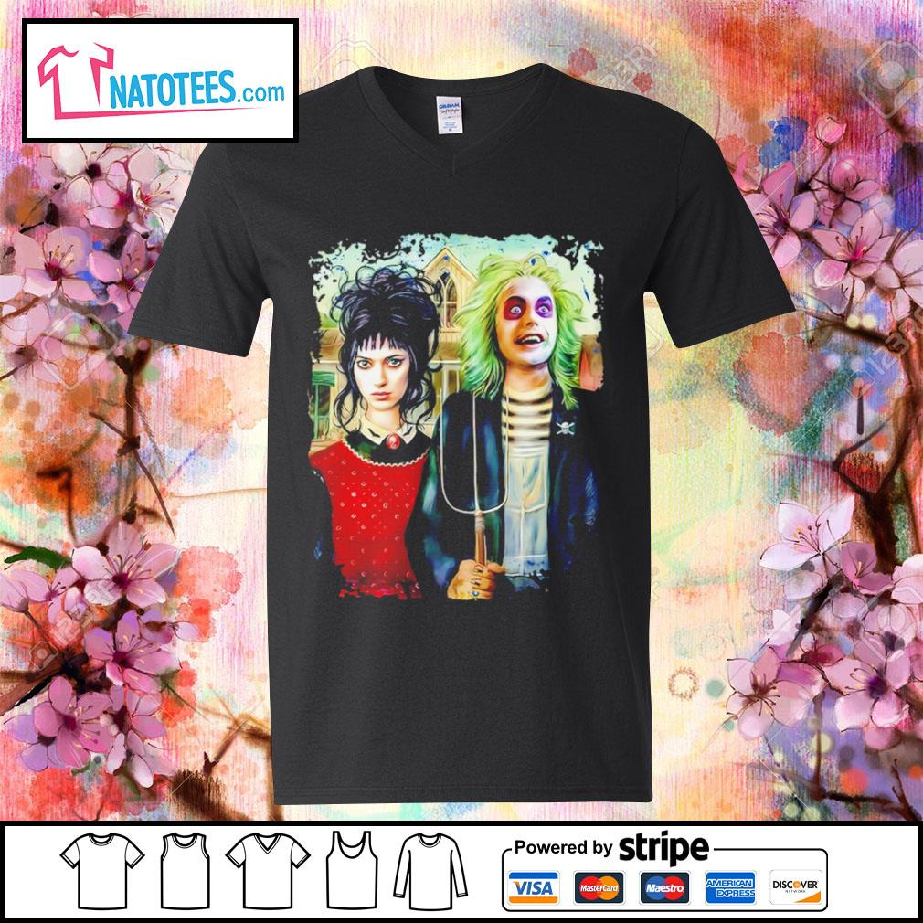 Halloween American Beetlejuice Gothic s v-neck-t-shirt