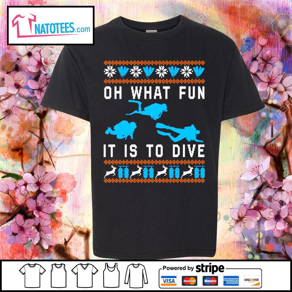 Oh what fun it is to dive ugly Christmas s youth-tee