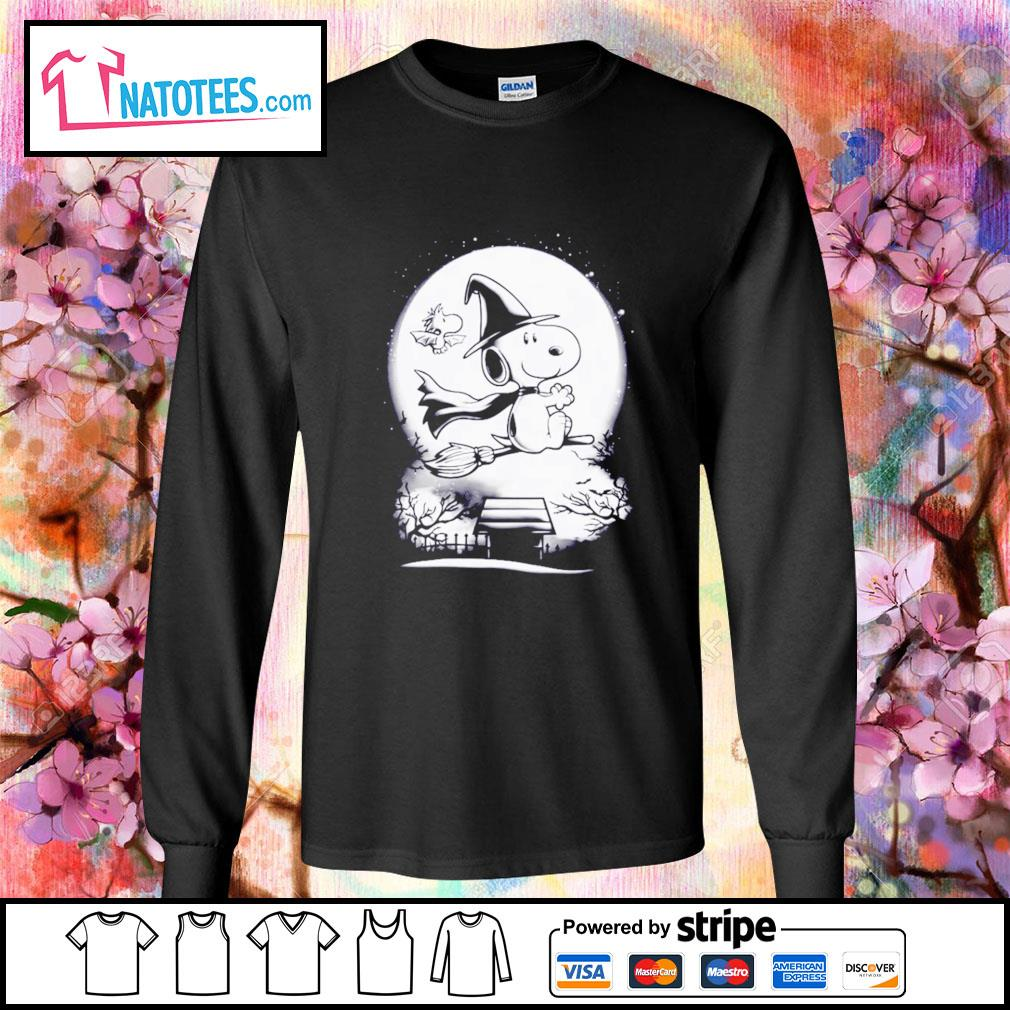 Peanuts Snoopy witch and Woodstock Halloween s longsleeve-tee