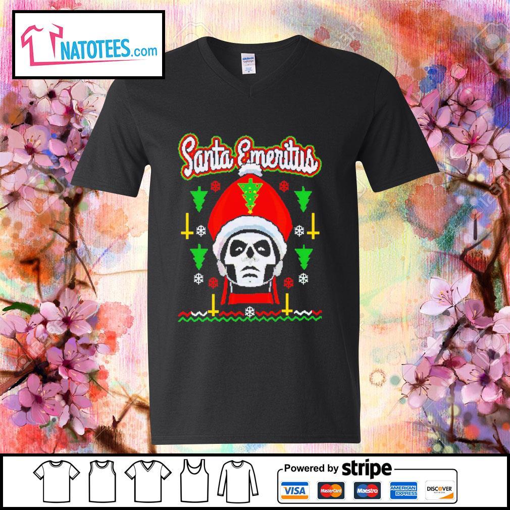 Santa Emeritus ugly Christmas s v-neck-t-shirt