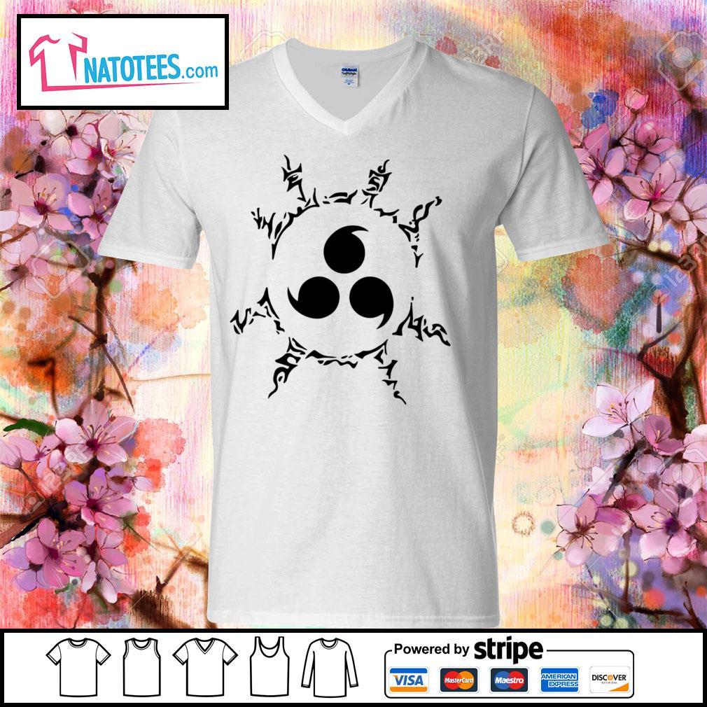 Uchiha Sasuke Curse mark s v-neck-t-shirt